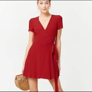 Red Forever 21 wrap dress